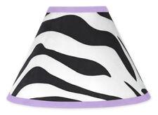 Sweet Jojo Designs Lamp Shade for Purple and Zebra Print Baby Kid Teen Bedding