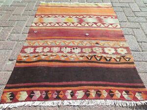 "Door mat, Turkish Small Kilim Rug, Bathmat, Small Carpet, Teppiche Tapis 33""X46"""
