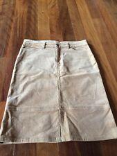 Ladies S Supre Caramel Cord Knee Length Skirt