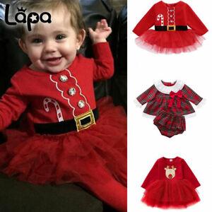 Verve Jelly Baby Weihnachten Kleid T/üll Tutu Kleider Langarm Streiften Weihnachten Strampler Kleid M/ädchen Princess Weihnachten Outfits