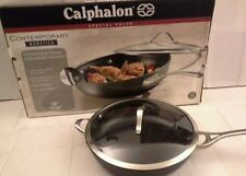 "Calphalon Contemporary Nonstick 13"" Deep Skillet with Cover New Retail Box"