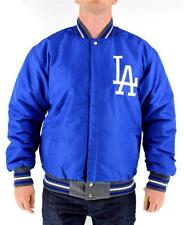 NEW JH DESIGN MEN'S LA DOGERS OFFICIAL REVERSIBLE ATHLETIC WOOL JACKET SIZE S