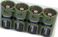 4 Duracell DL123A CR 123 123A Batteries + Powerpax SlimLine Military Green Case