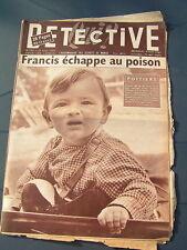 Détective 1956 QUINçAY REIMS MARCINELLES MEAUX CLAMECY