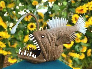 "VERY RARE Beautifully Detailed Realistic Anglerfish 5"" PVC Figure Angler Fish"