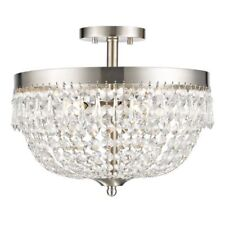 Crystal semi flush mount chandeliers and ceiling fixtures ebay dining room mozeypictures Images