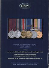 DNW Auction Catalogue25/9/2008 Malaysia Medals  Tamplin Collection Pt1 J&R Gaunt