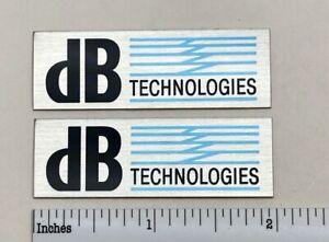 dB Technologies Speaker Grill Badge Logo Pair Emblem Custom Made Aluminum