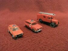 HO 1:87 SCALE WIKING (3) FIRE DEPARTMENT VEHICLES - CARS & LADDER TRUCK/VAN