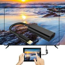 USB-C Type C to HDMI Adapter USB 3.1 Cable For MHL Black Phone Tablet S H4Y2