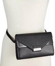 618ef9778f2555 NEW Michael Kors MK Fanny Pack Belt Bag Shoulder Bag Bleak/Silver Small