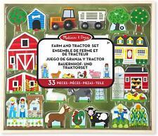 Wooden Toy Farm & Tractor Play Set Xmas Birthday Gift - Melissa & Doug 14800