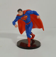 "2.5"" Superman 2013 PVC Action Figure Stand DC Comics Justice Leauge Cake Topper"