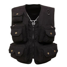 Mens Canvas waistcoat hunting fishing Professional vest photo Director jacket
