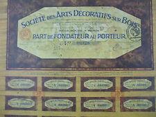 action societe arts décoratifs bois marqueterie non datée fondateur