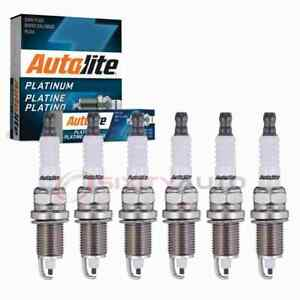 6 pc Autolite Platinum Spark Plugs for 1978-2001 Jeep Cherokee 4.0L 4.2L L6 nv