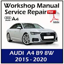 Audi A4 B9 8W 2015 2016 2017 2018 2019 2020 Service Repair Manual Workshop