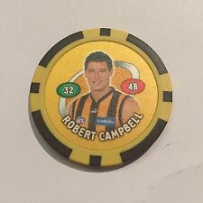 Robert Campbell Hawthorn Hawks AFL Poker Chip 2007 Toppz Chips