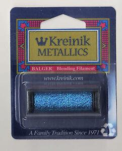 Kreinik Blend - 55Yd Spool of #006 Blue Metallic Blending Filament
