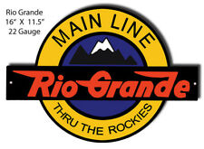 Rio Grande Railroad Laser Cut Out Reproduction Sign 11.5x16