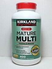 Kirkland Signature Mature Multi 400 Tablets *Adult 50+ Multi Vitamin & Mineral*