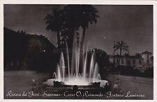 SAN REMO - Riviera dei Fiori - Corso Raimondo - Fontana - Foto Cartolina 1952