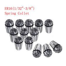 12pcs Er16 Spring Collets Set 132 38 For Cnc Milling Lathe Tool Engraving