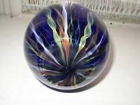 Vintage, Murano, 12in H x 5in D, Blown, Cobalt Blue Art Glass, Flower-Bud Vase