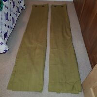 Next eyelet curtains, lined, green contrast weave, 168x229cm
