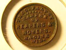 RARE,1863, THOS. FALVEY, MANFR'R 0F REAPERS & MOWERS, RACINE WIS.