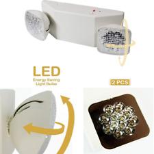 2 Pack LED Emergency Exit Light Battery Back Up Standard Square Head Energy Star