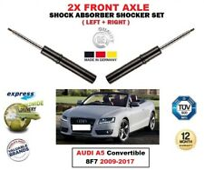 FOR AUDI A5 Convertible 8F7 2009-2017 2X FRONT LEFT RIGHT SHOCK ABSORBERS SET