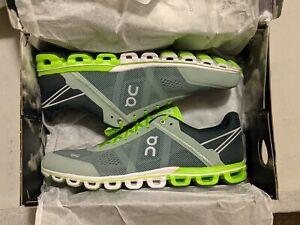 On Running Mens Cloudflow Running Shoe, Moss/Lime, 12 US Version 1