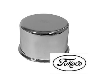 NEW! 1965 - 1966 FORD MUSTANG Chrome Oil Cap With FoMoCo Logo Falcon Bronco