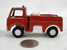 Vintage Tootsie Toy Firetruck Metal 1970 Red Made in USA #3296