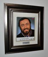 Rare LUCIANO PAVAROTTI Signed Original Color Autograph, Frame, Plaque, COA, UACC