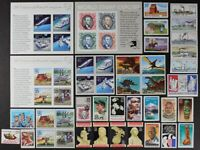 US 1989 Comm.Year Set 38 stamps + 12 more stamps on 3 S/S incl Airmails Mint NH