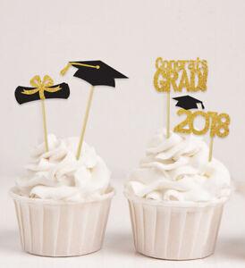 Darling Souvenir| Graduation Theme Party Cupcake Toppers | Dessert-6ED
