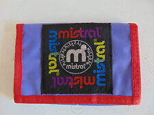 Vintage 80 90 MISTRAL Portafoglio Portamonete Purse Wallet Money Bag Viola