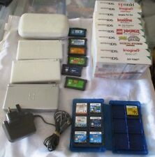 NINTENDO  DS LITE -  Bundle - 3 Consoles ,6 GBA & 22 DS Games - Incl 1 Charger