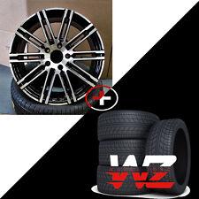"22"" Split 10 Machined Black Wheels W/Tires Fits Porsche Cayenne Q7 Touareg"