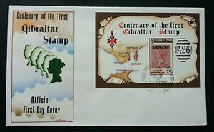 [SJ] Gibraltar Centenary Of The First Stamp 1986 (miniature FDC)