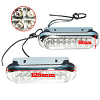 2x Universal Auto White 16 LED DRL Daytime Running Lights Fog Day Driving LAMPS