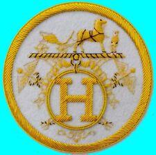 Vintage Horse Equestrian H Royal Crown Blazer Jacket Coat Patch Robe Hermes ? Eu
