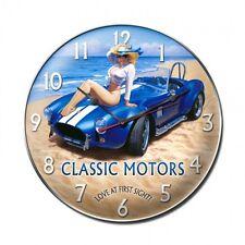 COBRA PIN UP Wanduhr groß Classic Shelby Racing Metall Schild V8 Uhr USA Ford