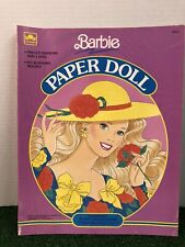 Barbie Paper Doll Vintage Uncut 1990 Golden Book Collectable Bs9