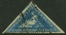 Cape of Good Hope 1853   Scott #2b  USED - Damaged