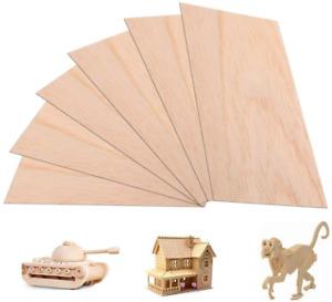 6 Balsa Wood Sheets 300 X 200 X 2 mm Thin Balsa Wood Panels Wooden Plywood NEW