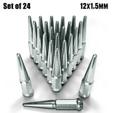 "(24) 4.5"" Spike Lug Nuts 12x1.5 Acorn fit Toyota Chevrolet Isuzu GMC Hummer 6CH1"