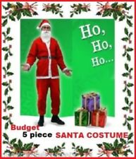 SANTA CLAUS 5pc Adult COSTUME Traditional RED Budget SUIT Father Christmas Xmas